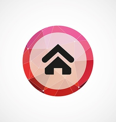 Home circle pink triangle background icon vector image