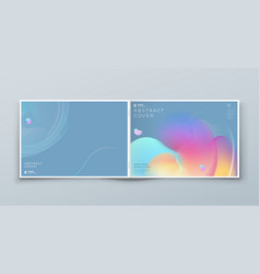 Horizontal liquid abstract cover background design vector