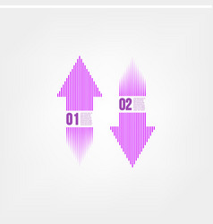 infographic arrows vector image