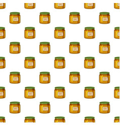jar of honey pattern vector image