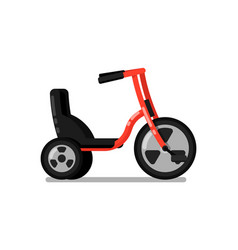 kids tricycle isolated icon vector image