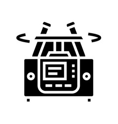 laboratory centrifuge glyph icon isolated vector image
