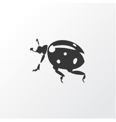ladybird icon symbol premium quality isolated vector image