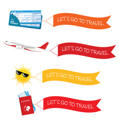 Let go to travel with icon vector