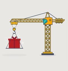 Line crane vector image