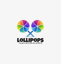 logo lollipops gradient colorful style vector image