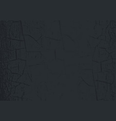 Marble texture with cracked black paint vector