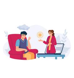 online psychology help virtual psychologist vector image