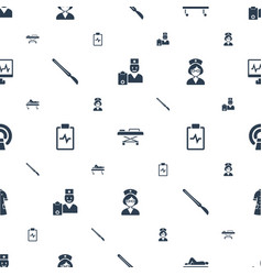 patient icons pattern seamless white background vector image