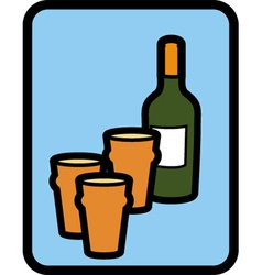 pints wine vector image