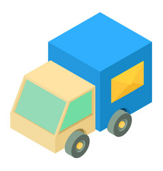 post truck icon isometric 3d style vector image vector image