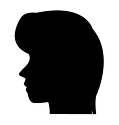 Profile head woman human female avatar vector