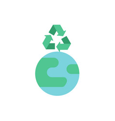 recycle for planet preservation flat color icon vector image