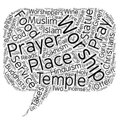 Religious practices text background wordcloud vector