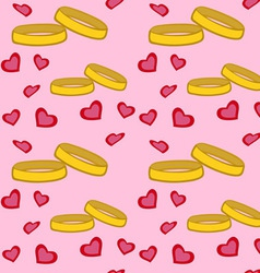 Rings Hearts Pattern vector