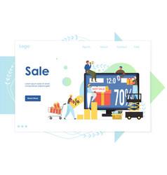 sale website landing page design template vector image