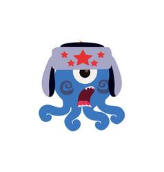 Scary cool monster avatar - animated cartoon vector