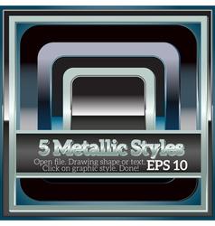 Set of shiny metallic styles for design vector
