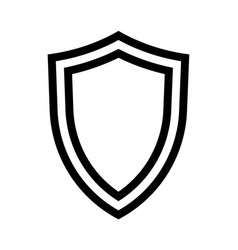 shield icon isolated on white background vector image