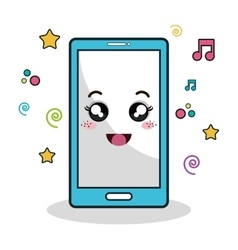 Smartphone phone character icon vector