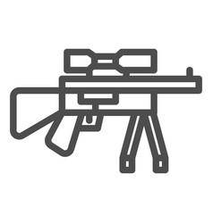 Sniper rifle line icon firearm vector