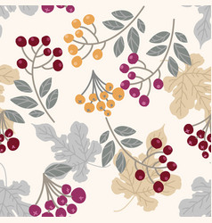 sophisticated leaves and berries vector image