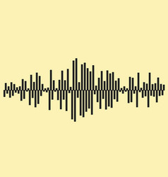 sound waves music background eps 1 vector image