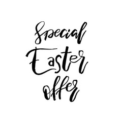 Special easter offer card with calligraphy text vector