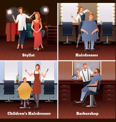 Stylist barbershop design concept vector