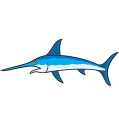 swordfish vector image