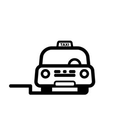 taxi cab on street vector image