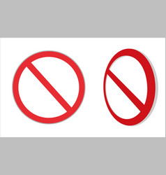 traffic signs no parking vector image