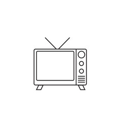 tv line icon outline logo vector image