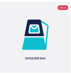 two color shoulder bag icon from fashion concept vector image