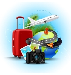 Vacation realistic background vector