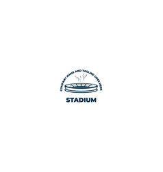 vintage retro simple minimalist stadium arena vector image