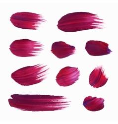 Watercolor circle shape design elements vector image
