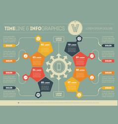 Web template a circle infochart diagram or vector
