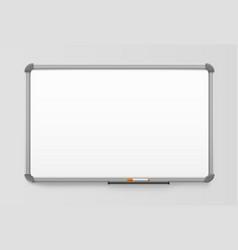 white board office board plastic frame realistic vector image