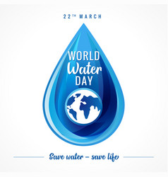 world water day banner vector image