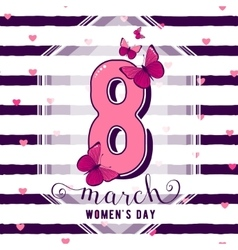 8 march womens day greeting vector