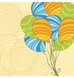 colored hand drawn balloons vector image vector image