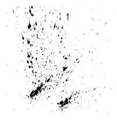 design template ink splashes elements ink spray vector image vector image