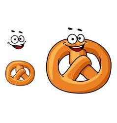 Funny crispy pretzel vector image