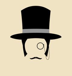 gentleman wearing vintage hat vector image