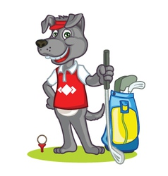 Golf Dog Cartoon vector image