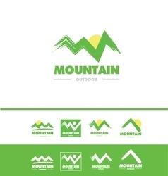 Grunge mountain logo icon vector image