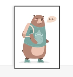 Quote bear vector image