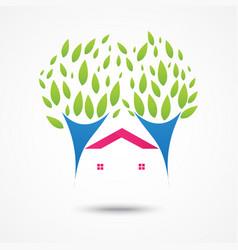Real estate sign and symbol design vector