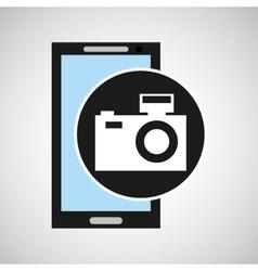 smartphone camera flash social media vector image vector image